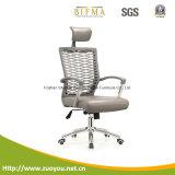 Cadeira luxuosa do escritório do assento do couro traseiro do engranzamento