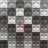 회색과 은 색깔 3D 수정같은 유리 모자이크 타일 (CFC684)