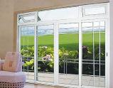 Portello scorrevole del PVC di standard australiano con il disegno della griglia per il patio