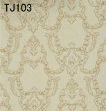 Nueva Italia Diseño realzado del PVC del papel de empapelar profunda (550g / m² 70cm * `10M)