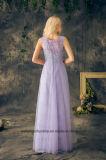 La longue bonne de l'honneur rectifie des robes de demoiselle d'honneur de lacet de Tulle