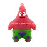 패트릭 별 USB 지팡이 만화 Spongebob PVC USB 섬광 드라이브