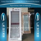 Aluminiumflügelfenster-Türen mit weiße Farben-goldene Farben-hölzerner Farbe