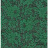 Het groene Kant van de Stof van de Kleur met Goedkope Prijs