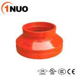 Réducteur excentrique Grooved de fer malléable d'ajustage de précision de pipe de FM/UL/Ce