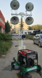 1000W * 2 Empuje manualmente telescópica móvil portátil de iluminación de la torre del generador (FZM-1000A)