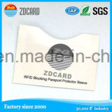 Papel RFID de papel de aluminio que bloquea la funda de la tarjeta de Sleeve/RFID