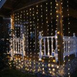 결혼식 홈 정원 훈장이 LED 창 커튼 고드름 끈에 의하여 점화한다