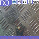5052 plats en aluminium Checkered/feuille d'aluminium plat de bande de roulement