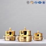 choc crème cosmétique acrylique en plastique argenté de fantaisie de luxe de qualité de 30g 50g
