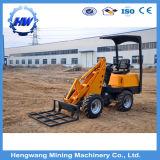 Aufbau-Maschinerie-chinesischer Rad-Ladevorrichtungs-Baggerschienen-Ochse-Miniladevorrichtung
