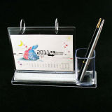 De acryl Kalender van het Bureau met de Houder van de Pen (btr-H1026)