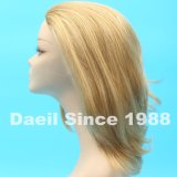 Halbe Perücke der Damen in der hohen beleuchteten blonden Farbe