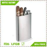 18-8 matraz con la caja de cigarro incorporada, matraz de múltiples funciones del acero inoxidable de 4 onzas