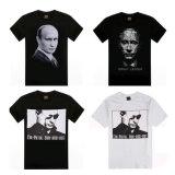 Promocionales personalizados logotipo impreso 100% del algodón de la camiseta