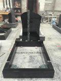 장례식 까만 화강암 기념물 묘석의 묘석 비문 비용