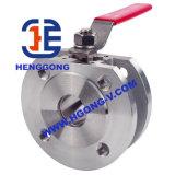 Válvula de bola de la oblea PN16 Pueumatic Wcb DIN