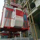 Plongement de l'élévateur/du levage de construction de zinc