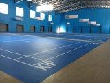 Het binnen Badminton van het Patroon van pvc Houten/Bevloering Baskestball