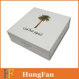 Коробка легкого пакета косметическая складная бумажная с логосом