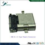 Головка L10mm USB3.1 c 24p женская, H3.42mm, Pin L=0.6mm в основании типа PCB