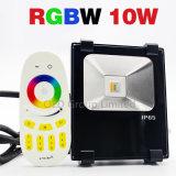 luz de inundación de 10W RGBW LED compatible con blanco de la luz RGB+Warm del jardín del puente IP65 de WiFi con 3 años de garantía