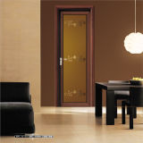 Wooden Color Aluminum Interior Bathroom Doors