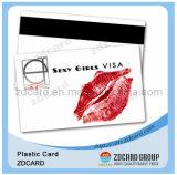 Cartão plástico do código de barras do cartão da listra do cartão magnético do cartão do PVC do cartão