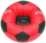 Présidence gonflable de PVC de modèle promotionnel du football, sofa gonflable