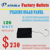 carregador flexível do sistema do jogo do painel da energia 120W solar para a bateria do portátil/carro/barco (PETC-S120)