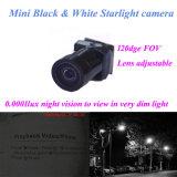 2g重量120deg VOA 0.0001luxの夜間視界600tvlの最も小さいサイズ10X10X17mmの黒く白いビデオHDカメラ