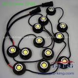 IP68 12*1W diodo emissor de luz brilhante super DRL