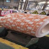 La alta calidad del precio de fábrica galvanizó la bobina de acero PPGI cubierto flor para el edificio