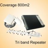 Support 2g 3G 4G Lte Mobile Network Booster 900 1800 2600 Signal Repeater Tri Band Signal Booster
