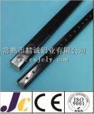 Profil en aluminium d'enduit de poudre noire (JC-P-50378)