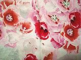 印刷の絹のリネン絹ファブリック