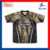 Healong Personalizar Camisas Respiráveis de Pesca Dri Fit