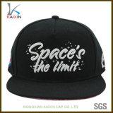 O Snapback de venda quente do preto do logotipo do bordado 2017 3D tampa chapéus