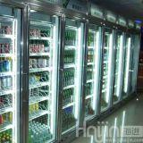 Lebensmittelgeschäft-Getränkeanzeigen-Kühlraum/Weg in der Gefriermaschine für Supermarkt