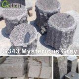 Серый сад Stone и Paving Stone Granite Mushroom Kerbstone для экстерьера