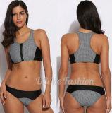 Износ Swim Tankini Бикини женщин Swimsuit способа ткани цвета контраста сексуальный