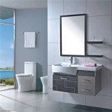 Armoires de salle de bains en acier monté sur bois avec bassin en céramique