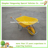 Pink variopinto Wheelbarrow con Galvanized Strong Sheet (WB6414N)