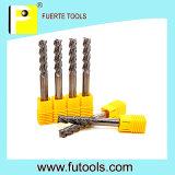3 flautas modificaron la pieza inserta del carburo para requisitos particulares de tungsteno para el aluminio