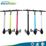 Ecorider Kohlenstoff-Faser China, das elektrischen Stoß-Roller für Verkauf faltet