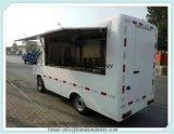 二重Layericeクリーム色のトレーラーのガス範囲の台所バンを実行する中国ガソリン