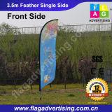 Изготовленный на заказ напольный флаг пера баннерной рекламы пляжа