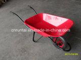良質の粉の上塗を施してある皿の空気の車輪の手押し車(Wb6400)