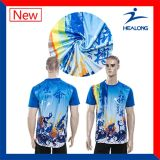 Os t-shirt do Sublimation da tintura imprimiram o t-shirt