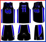 デザイン通気性のバスケットボールのジャージーのカスタマイズされたユニフォーム